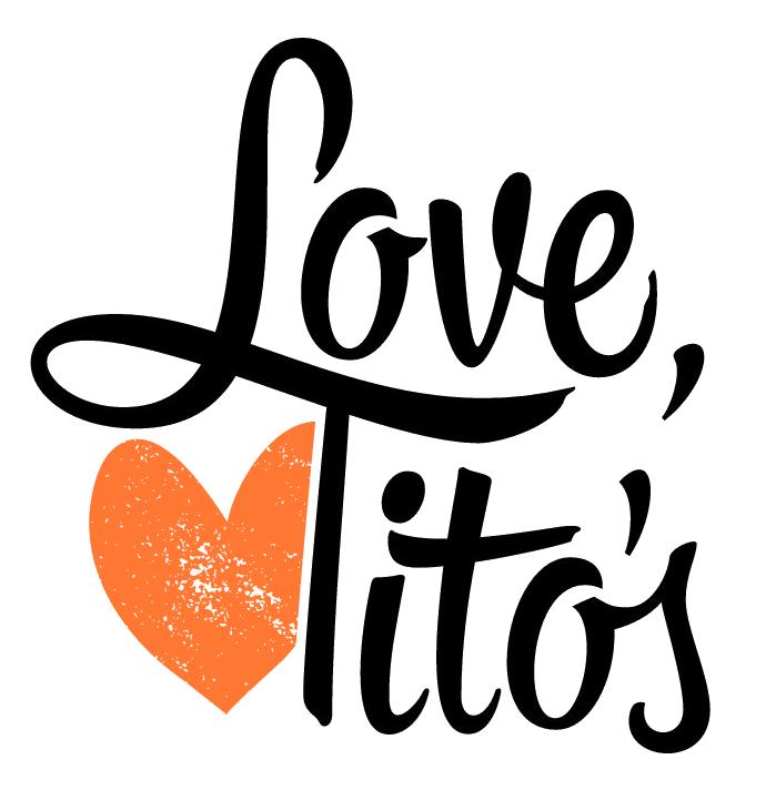 Love Tito's with Orange Heart